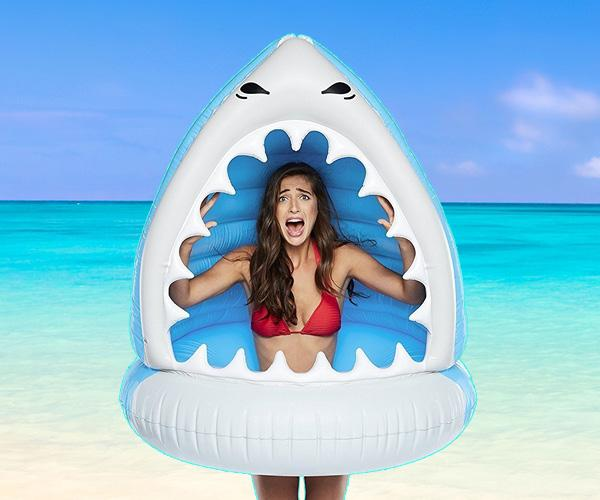Giant Inflatable Shark Jaws Pool Float