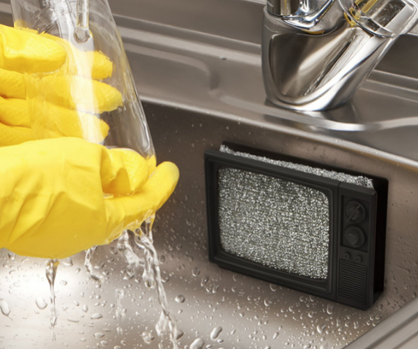 Static Clean TV Sponge Holder