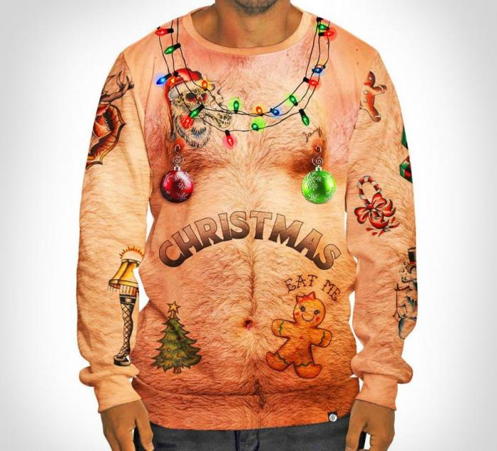 Ugly Christmas Sweater with Tattoos