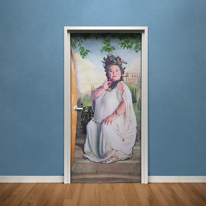 harry potter fat lady door poster loot nerd