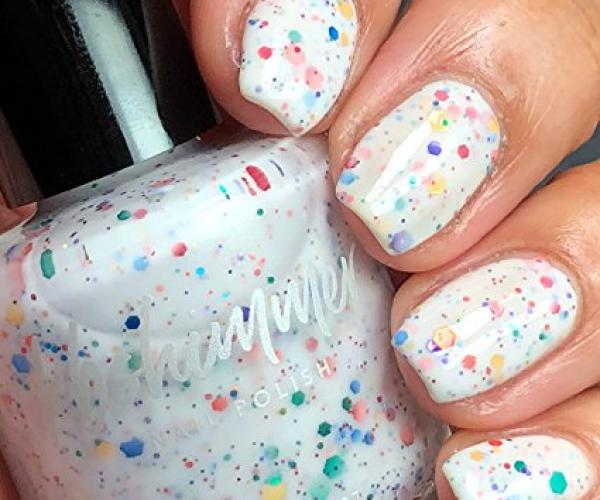 Rainbow Splatter Nail Polish