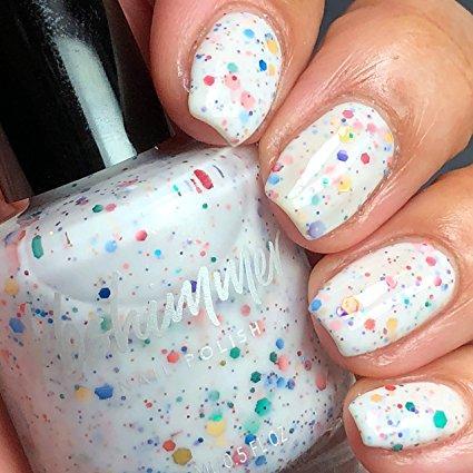 Rainbow Splatter Nail Polish - Loot Nerd