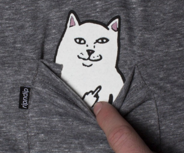 Lord Nermal Cat Flipping Off T-Shirt