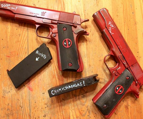 Deadpool .45 Cal Pistol Gun Replica